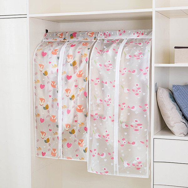 Dustproof Cloth Cover Bags PEVA Hanging Organizer Storage Waterproof Suit Coat Dust Cover Protector Wardrobe Storage Bag for Clothes