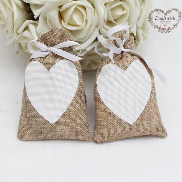 сердце старинные природные мешковины подарок конфеты сумки свадебные сувениры и подарки свадебные украшения праздничные атрибуты