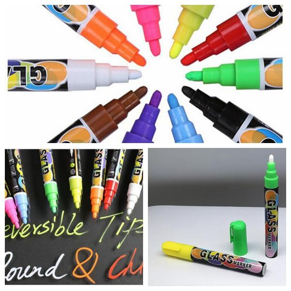 8pcs 1 lot Colorful Marker Pen for Ceramic Glass Plastic Wood Paper Paint Marker Office School Supplies Writing on Board Glass KKA5188