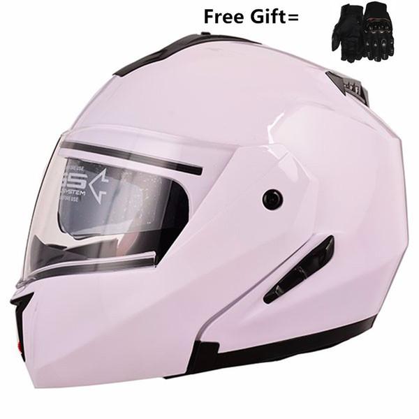 Motorcycle helmets Double Visors Modular Flip Up helmet DOT approved Full face casque moto racing Motocross helmet M L XL XXL