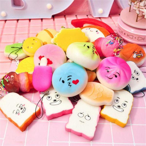 best selling Kawaii Squishies Rilakkuma Donut Cute Phone Straps Bag Charms Slow Rising Squishies Jumbo Buns Cheap Charms Handbag Squishy