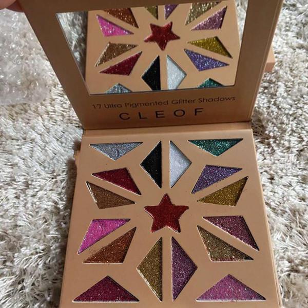 Новый горячий CLEOF 17 ультра пигментированный блеск теней палитра блеск тени CLEOF 17color БДХ
