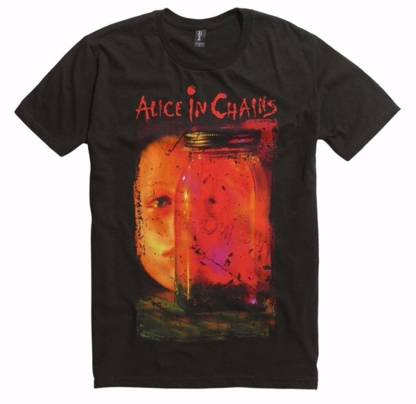 Quality Shirts New SALICE IN CHAINS Jar Of Flies Album Layne Staley Jerry Cantrell T-Shirt New S-2XL Band Logo Tee Shirt For Men