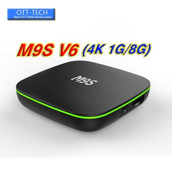 Hot M9S V6 4K Android 7.1 TV Box MXQ pro 4K Quad Core 8G / 1G RK3229 Smart TV Box suport WIFI 3D migliore Amlogic S905W