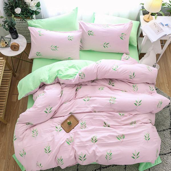 Plants Duvet Cover Bed Sheets Pillow Cases Single Double Queen King Size Bed Linen Set For Children Soft Bedclothes 3pcs/4pcs