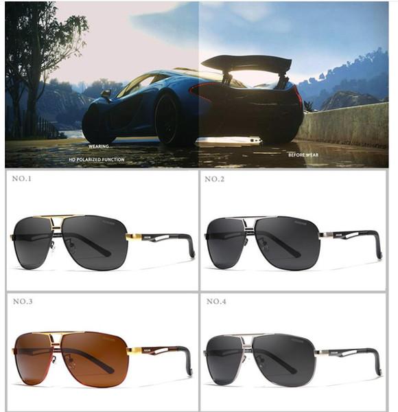 2018 óculos de sol de alumínio e magnésio polarizada homens óculos de pesca  de lazer ao ar livre motorista de metal óculos de sol Com Caixa De Designer 95ff0004bb
