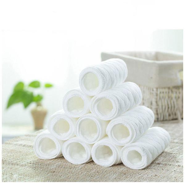 Revestimientos lavables reutilizables s Revestimientos para tela de bolsillo real Revestimiento de la cubierta del pañal Revestimiento de inserción de carbón de bambú de la microfibra