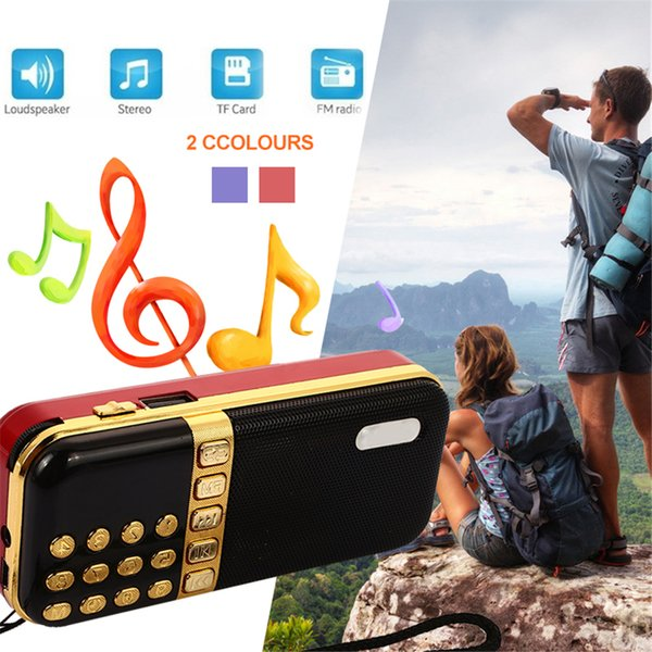 BCMaster Mini Portable Rechargeable FM Radio Teaching Voice Speaker USB Support TF Card with Microphone 2 Colors Gift
