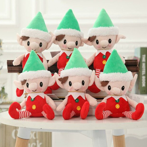 Christmas Elves Baby Plush Toy Baby Elf Dolls Boy Girl Figure Child Elf Doll Plush toys Xmas Decor dolls on the shelf Infant Christmas Gift