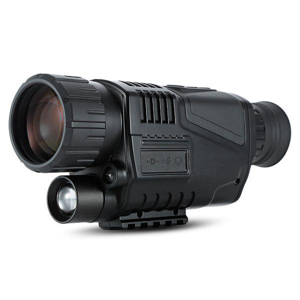 5X40 Dijital 5MP Visione Notturna di Caccia Telescopio di Visione Notturna Monoküler 5 Mega Piksel Tüfek kapsamı