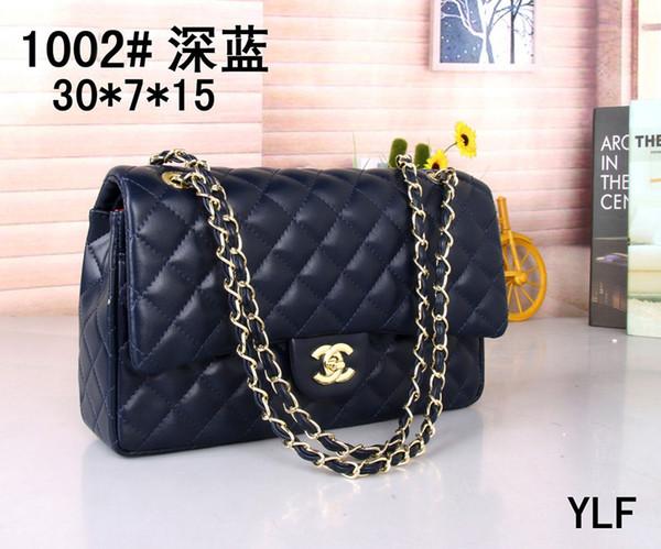 18 Classic Le Boy Flap bag women's Plaid Chain bag Ladies luxury High Quality Handbag Fashion designer purse Shoulder Messenger bags 30cm