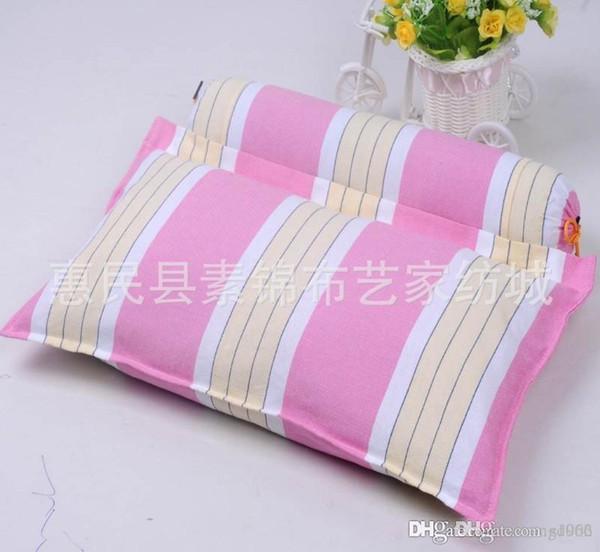 Almohada de ropa de cama portátil Cuidado de la salud de algodón Weeping Willow completa de cáscara de trigo sarraceno reparación cervical Spine Piece almohadas práctica 16 5zm cc