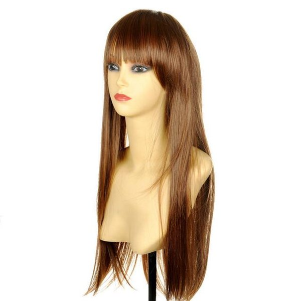 fashion Style long medium brown natural Hair wig wigs for women