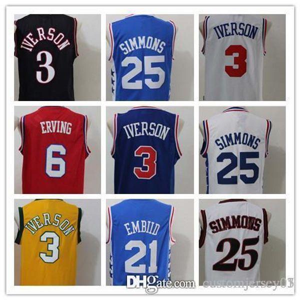 detailed look 48462 58064 2018 Philadelphia 76ers 25 Season Authentic Philadelphia Basketball Jersey  Men Jerseys 25 Ben Simmons 21 Joel Embiid 20 Markelle Fultz Jersey From ...