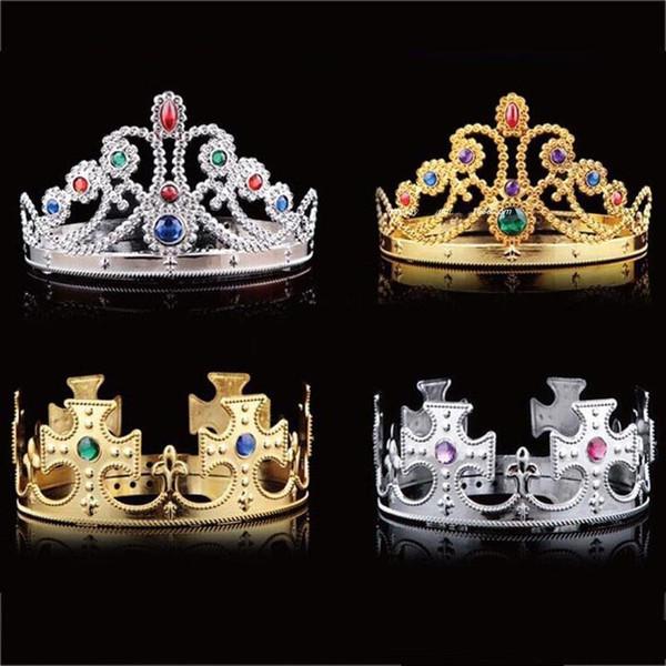 Enfants Roi Reine Princesse Tiara Cristal Couronne Bandeau Coiffure Pour Enfants Jour Filles Garçons De Noël Fête Fournitures C566