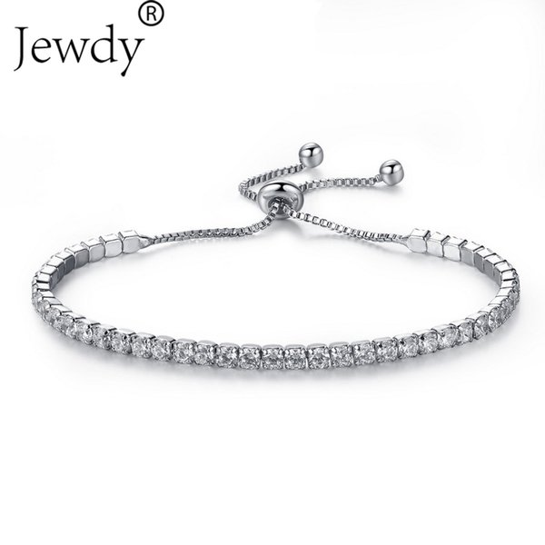 Top Quality Bracelet & Bangle for Women Bar Slider Brilliant CZ Rose Gold Color Wedding Jewelry Party Gift Pulseira Feminina