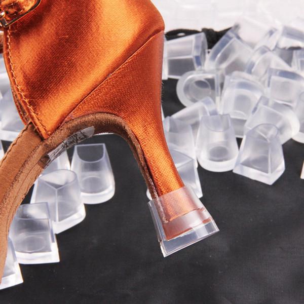 Kadınlar yüksek topuk kapak Latin Betty dans ayakkabıları Aşınmaya dayanıklı kaymaz topuk koruyucu kılıf temizle invisiable astarı