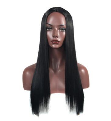 Europe and the United States fashion women long hair headset straight black chemical fiber in the long holiday hair set factory set direct s