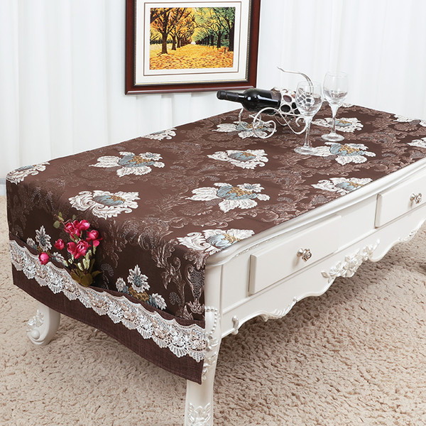 Widen Long Christmas Coffee Table Runner with Pocket Wedding Party Decoration Table Cloth Rectangular Chinese Banquet Table Cover 200x70 cm