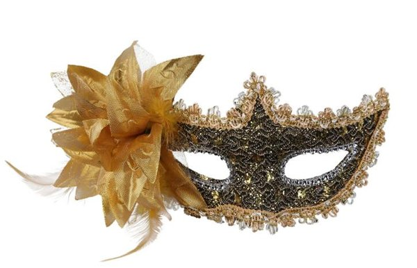 2019 new Venice mask lace drill, leather mask, lilies Princess Flower mask W196