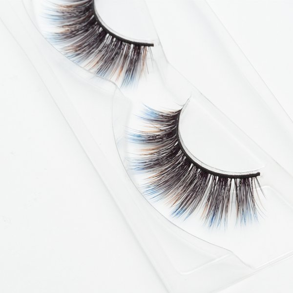 Seashine three color 3d fancy color silk eyelashes 3d colorful silk eyelashes false fancy color lashes free shipping C7
