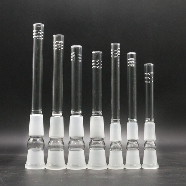 best selling Glass downstem diffuser 14mm 18mm to 18mm, 14mm to 18mm Male Female Joint glass down stem for glass bongs water pipes
