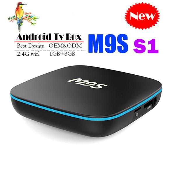 New M9S S1 Allwinner H3 Android TV Box 1GB 8GB Quad Core 100M Lan 2.4G WiFi 4K VP9 HDR10 IPTV Android Smart media player BETTER TX3 X96 MINI
