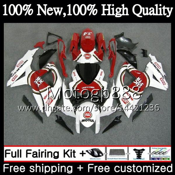 Cuerpo para SUZUKI GSXR750 Lucky Strike 08 09 10 K8 GSXR 600 08 10 26PG4 GSX-R750 GSX-R600 GSXR 750 GSXR600 2008 2009 2010 Fairing Bodywork