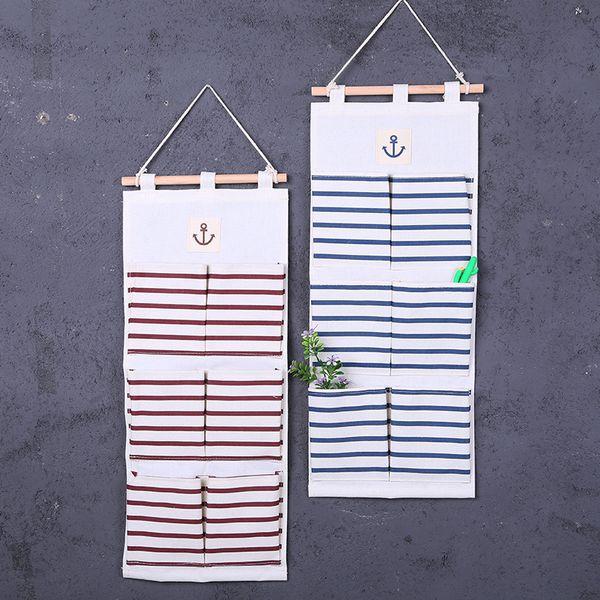 Sacchetti portaoggetti da parete porta organizer in lino cotone porta borse portaoggetti portaoggetti varie borse da 6 scomparti