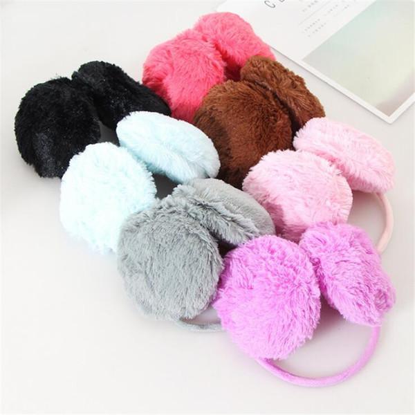 ygyeeg 1pcs/lot 15.5cm winter plush women earmuffs pure 7 colors warmers ear muffs sale muffs winter warm earmuffs