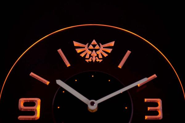 Wholesale-cnc0204 Legend Of Zelda Triforce beleuchtete 3D-Neon-LED-Uhr