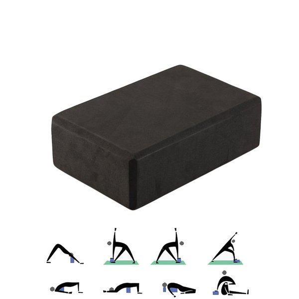 Yoga Block Brick Sports Exercise Gym Foam Workout Stretching Aid Body Shaping Health Training Home Practice Fitness BlackJ84