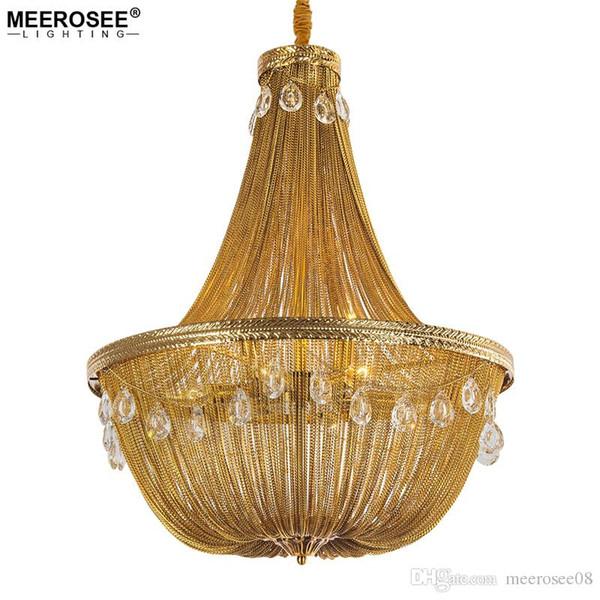 Italian Engineering Design Chandelier Luxury Aluminum Chain Hanging Light for Restaurant Hotel Art Studio Bedroom lamps
