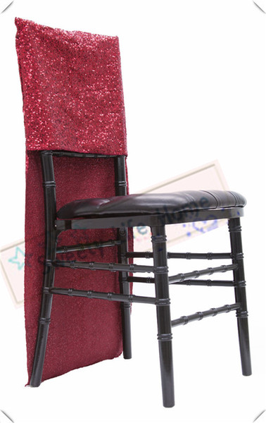 Free shipping Red Sequin chiavari chair covers/Glitz Banquet chair cover for party Events Slub chair caps decorations