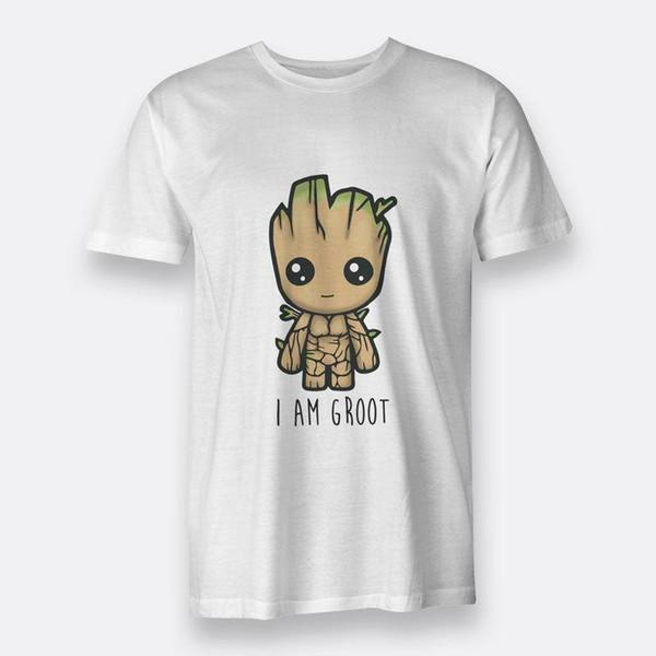 T-shirt bianche The Guardian I Am Groot Baby T-shirt da uomo S-3XL