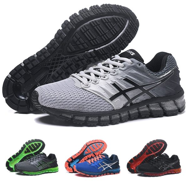 2018 Asics Gel-Quantum 360 II Nuevo diseño Gris Blanco Negro Zapatillas para hombre Zapatillas para correr Original 2 2s Best Quality Athletic Sneakers