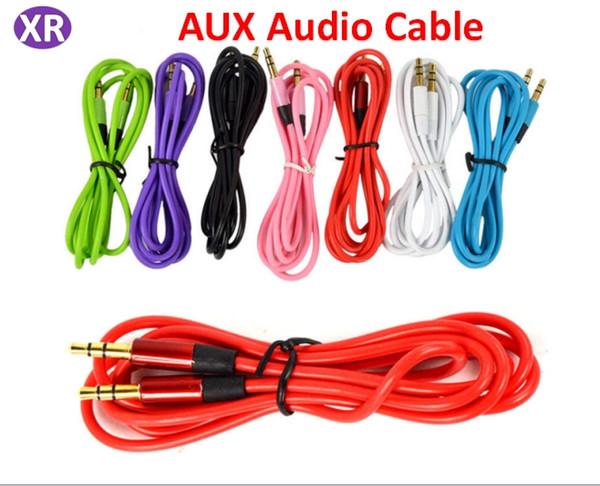 Cavo audio da 3.5MM a 3.5MM di alta qualità Maschio Cuffie universali Cavo audio AUX Car Telefono cellulare Linee colorate per Iphone PC DVD Speaker 05
