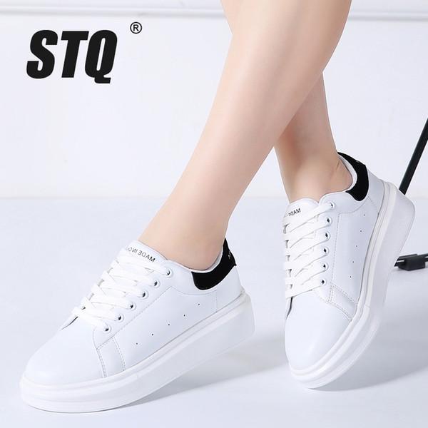 Con Cordones Otoño Vulcanizar 2018 Plataforma Blancas Zapatillas Pisos Stq Zapatos Compre Para 2019 Mujer 8wkPnX0O