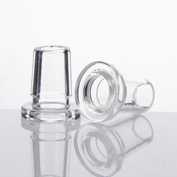 DHL Short Glass Adaptor 14mm Female To 18mm Male Frosted/clear Mouth Short Adapters Inline Downpipe High Borosilicate Glass