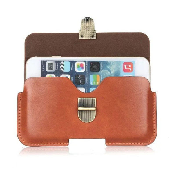 Universal PU Leather Belt Clip Pouch Cover Case for BLU Pure XL/Neo XL