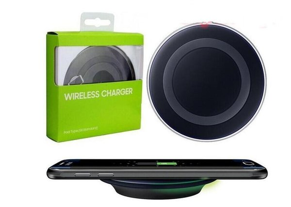 2018 Qi Fast Wireless Charger Pad di ricarica per Samsung Galaxy S6 / S6 Edge Ship in 1 giorno