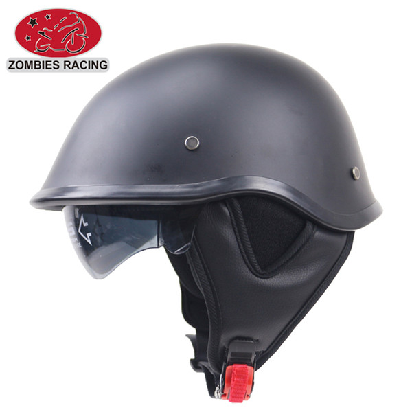 Brand Motorcycle Retro Half Cruise Helmet Prince Motorcycle Helmet DOT Approved with sunglasses