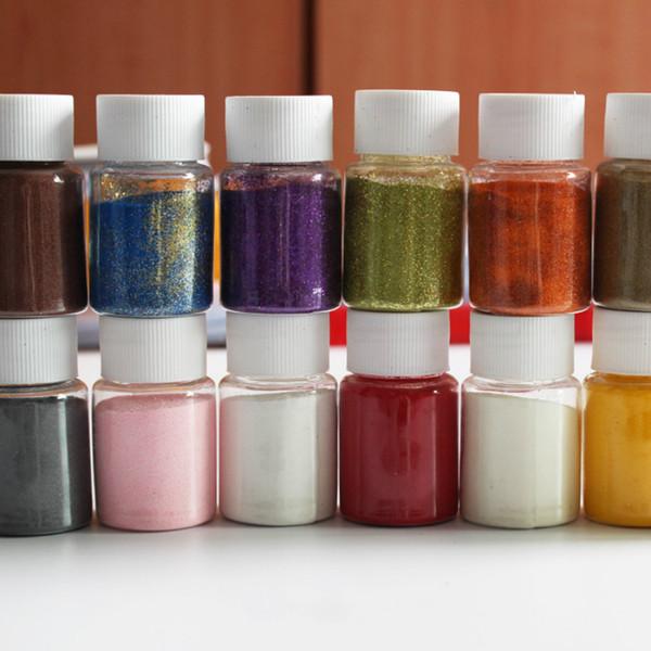 30 ml botellas / 13 botellas polvo de papel convexo en polvo, polvo de grabación en relieve pintura DIY sello de goma herramientas de scrapbooking