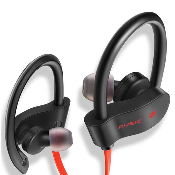 2018 RT558 Auriculares Bluetooth Auriculares inalámbricos Auriculares deportivos con cancelación de ruido Sweatproof con micrófono Jogging Ear Hook Headsets in Box