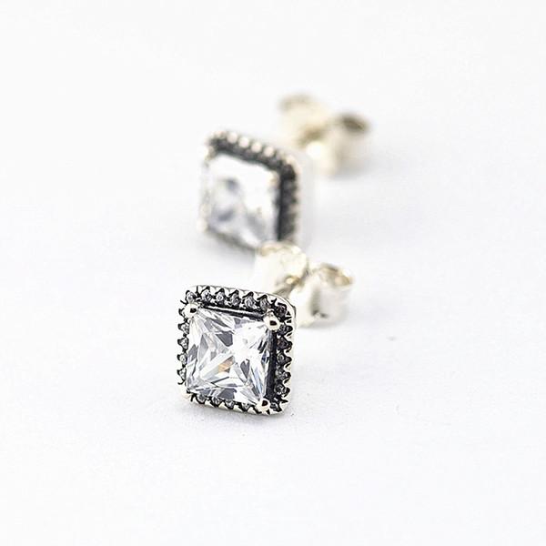 Élégance intemporelle boucles d'oreilles 100% en argent Sterling 925 clair Cz boucles d'oreilles pour les femmes bricolage beaux bijoux SLE043