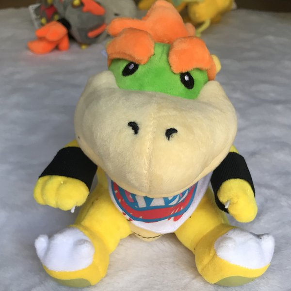 top popular 6'15CM Super Mario Brothers Bowser JR Plush Doll Toys Plush Children New Brothers Bowser JR Soft Plush Toy Best Kids Gift 2019