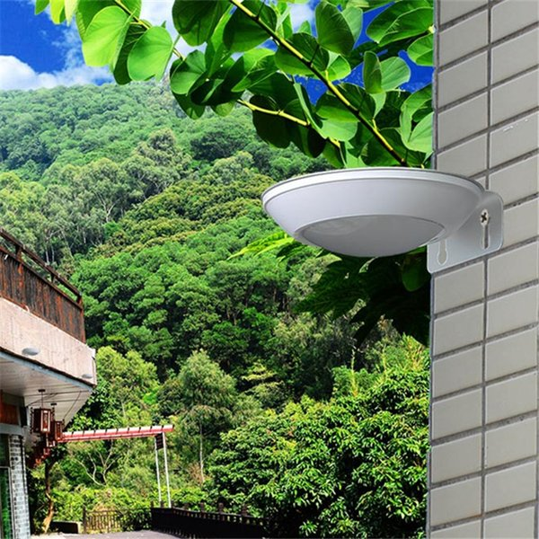 New Super Bright Outdoor Solar Lamp Outdoor Landscape Courtyard Lighting Home Human Body Microwave Radar Sensor LED Lights Round Plate UFO