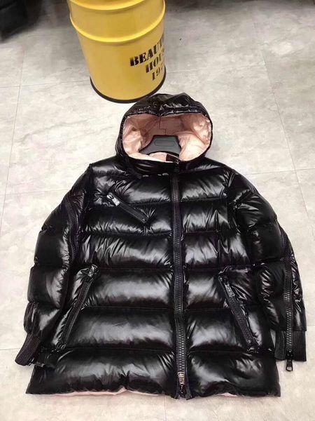 2018 Winter Women Down jakcet M Down Duck Coat Hooded Waist 90% Thick Duck outerwear Lady Warm Clothes for Parkas Black Waterproof