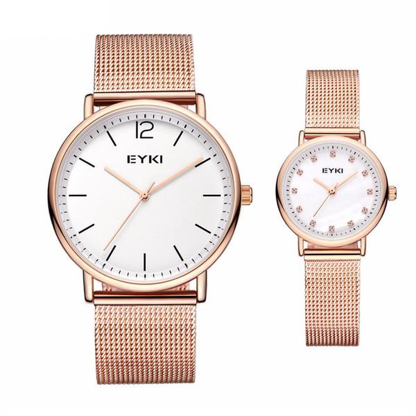 2018 EYKI Lovers Men Watch Women Luxury Fashion Gift Dress Couple Watches Classic T Style Brand Casual Analog Quartz Waterproof Wristwatch
