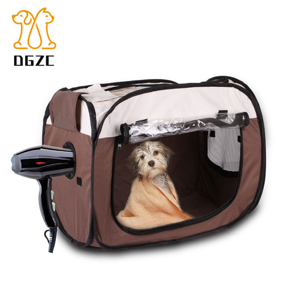 Pet Folding Cage 600D Oxford Pet Drying Box Traveling Portable Bag Fence Kennel Dog House Outdoor Cat House Dog Playpen Exercise